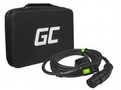 Câble Green Cell GC Type 2 7.2kW 5m pour charger les voitures électriques Tesla Leaf Ioniq Kona E-tron Zoe  avec étui