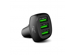 Chargeur de voiture Green Cell GC PowerRide 54W 3xUSB 18W avec technologie de charge rapide Ultra Charge