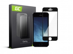 Green Cell PRO GC Clarity Verre Trempe pour Apple iPhone 5/5S/5C/SE, Ecran 3D Incurvés Bords Couverture Écran 9H