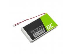 Batterie Green Cell ® AHL03714000 VF8 1697461 pour TomTom GO 530 630 630T 720 730 730T 930 930T SatNav, Li-Polymer 1300mAh 3.7V