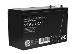 Green Cell® Batterie AGM 12V 7Ah accumulateur UPS Système Batterie de secours Batterie de résérve
