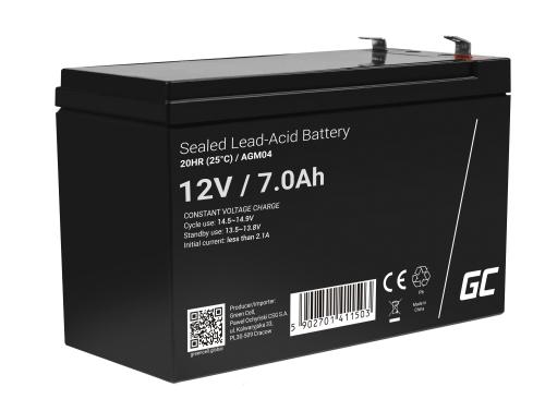 Green Cell® Batterie AGM 12V 7Ah accumulateur au Gel UPS Système Batterie de secours Batterie de résérve