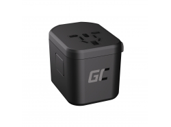 Green Cell GC TripCharge PRO Universal Adapter with USB ports