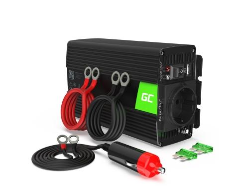 Green Cell® Convertisseur de tension DC 12V à AC 230V 500W/1000W