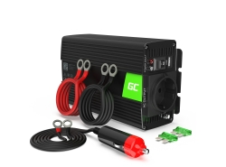 Green Cell® Convertisseur de tension DC 12V à AC 230V 300W/600W Pur sinus