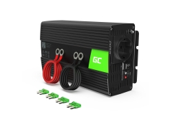 Green Cell® 1000W/2000W Pur Sinus Convertisseur DC 24V AC 230V Onduleur Power Inverter