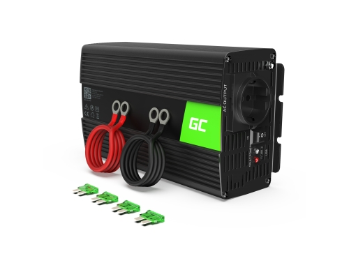 Green Cell® Convertisseur de tension DC 24V à AC 230V 1000W/2000W Pur sinus