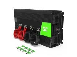 Green Cell® Convertisseur de tension DC 12V à AC 230V 3000W/6000W Pur sinus
