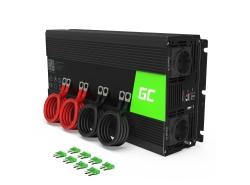 Green Cell® Convertisseur de tension DC 24V à AC 230V 3000W/6000W Pur sinus