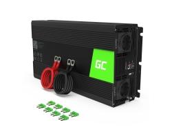 Green Cell® 1500W/3000W Pur Sinus Convertisseur DC 24V AC 230V Onduleur Power Inverter