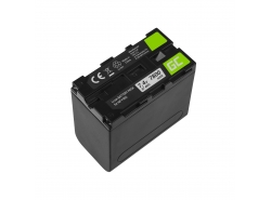 Batterie d'accumulateur Green Cell NP-F960 NP-F970 NP-F975 pour Sony 7.4V 7800mAh