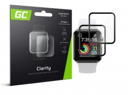 2x GC Clarity Verre trempé pour Apple Watch 4/5 44mm