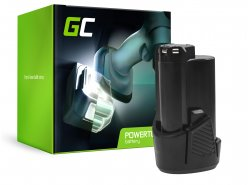 Green Cell® Batterie (2Ah 12V) 5130200008 BSPL1213 B-1013L pour Ryobi RCD12011L RMT12011L RRS12011L BB-1600 BHT-2600