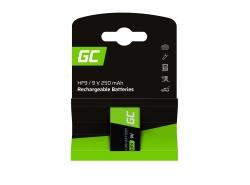 Batterie 1x 9V HF9 Ni-MH 8000mAh Green Cell