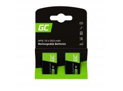 Batterie 2x 9V HF9 Ni-MH 8000mAh Green Cell