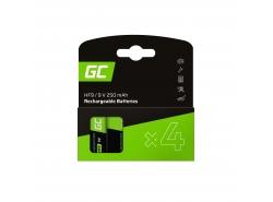 Batterie 4x 9V HF9 Ni-MH 8000mAh Green Cell