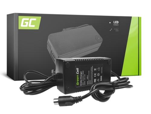 Green Cell ® Chargeur pour Vélo Electrique, Bouchon: RCA, 42V, 2A