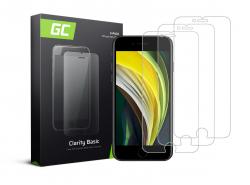 3x Verre Trempe pour iPhone SE 2020 / 6 / 6S / 7 / 8 Protection Ecran GC Clarity Ecran 3D Film Protecteur