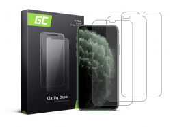 3x Verre trempé GC Clarity pour le téléphone Apple iPhone X / XS / 11 Pro