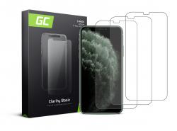 3x Verre Trempe pour iPhone X / XS / 11 Pro Protection Ecran GC Clarity Ecran 3D Film Protecteur