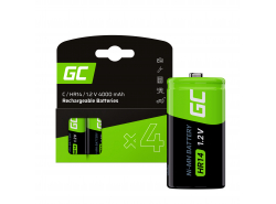 Batterie 4x C R14 HR14 Ni-MH 1.2V 4000mAh Green Cell