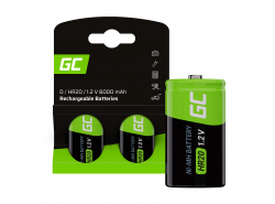 Batterie 2x D R20 HR20 Ni-MH 1.2V 8000mAh Green Cell