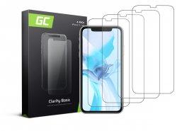 4x Verre trempé GC Clarity pour le téléphone Apple iPhone 11 / iPhone XR