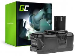 Green Cell® Batterie (5Ah 18V) ONE+ RB18L50 RB18L25 pour RYOBI R18AG0 R18JS0 R18PDBL RCD18022L RID1801M RMT1801M