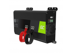 Green Cell Pro Convertisseur de tension DC 12V à AC 230V 500W/1000W Pur sinus