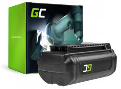 Batterie Green Cell (6Ah 36V) 5133002166 BPL3626D2 BPL3650 BPL3650D OP4026 RY36B60A pour Ryobi RY40200 RY40403 RY40204 RY40210