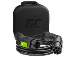 Câble Green Cell GCev¹ Type 1 pour charger les voitures électriques  (5m, 3,6kW,  16A, 3-phase)