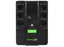 Green Cell® Onduleur AiO UPS/USV 600VA 360W Alimentation d'énergie Non interruptible