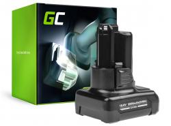 Batterie Green Cell (5Ah 10.8V) GBA 12V 2607336333 D-70745 2607336013 BAT414 pour Bosch GAS GLI GSR 10.8V-LI 10.8V-LI