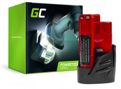 Batterie Green Cell (2Ah 12V) C12 M12 M12B2 M12B3 M12B4 M12B6 B9 REDLITHIUM pour Milwaukee BDD-202C BPD-0 BSD-0 C12HZ-0 C12MT-0