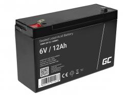 Green Cell® Batterie AGM 6V 12Ah accumulateur au Gel Jouets Installations d'alarme Véhicules pour enfants