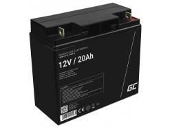 Green Cell® Batterie AGM 12V 20Ah accumulateur pour tondeuse scooter bateau de pêche Tracteur à gazon