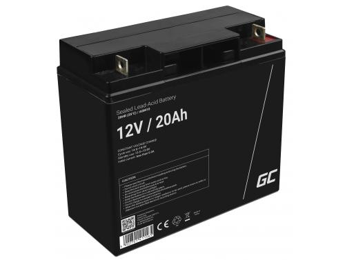 Green Cell® Batterie AGM 12V 20Ah accumulateur au Gel tondeuse scooter bateau de pêche Tracteur à gazon