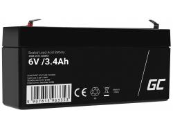 AGM Batería Gel Plomb 6V 3.4Ah Sans entretien Green Cell pour les scooters et un parcmètre