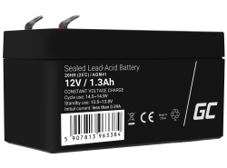 AGM Batería Gel Plomb 12V 1.3Ah Sans entretien Green Cell pour la voiture électrique et le scooter