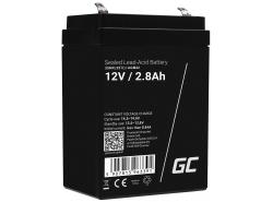 AGM Batería Gel Plomb 12V 2.8Ah Sans entretien Green Cell pour la gravité et l'alarme