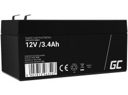 AGM Batería Gel Plomb 12V 3.4Ah Sans entretien Green Cell pour la caisse et le comptoir