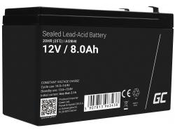 AGM Batería Gel Plomb 12V 8Ah Sans entretien Green Cell pour les UPS et les systèmes d'urgence