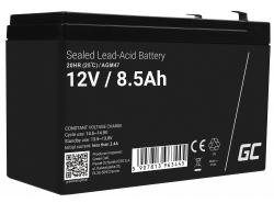 AGM Batería Gel Plomb 12V 8.5Ah Sans entretien Green Cell pour l'onduleur et la surveillance