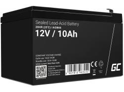 AGM Batería Gel Plomb 12V 10Ah Sans entretien Green Cell pour le photovoltaïque et l'échosondeur