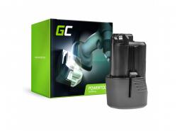 Batterie Green Cell (2Ah 10.8V) GBA 12V 2607336333 D-70745 2607336013 BAT414 pour Bosch GAS GLI GSR 10.8V-LI 10.8V-LI