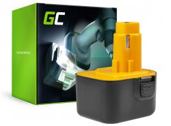 Batterie Green Cell (3Ah 12V) A9252 A9275 DE9037 DE9071 DE9074 DE9075 pour DeWalt / Black&Decker KC120V KC1262F CD12C CD12CA