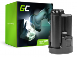 Batterie Green Cell (1.5Ah 10.8V) Power4All PBA 12 PBA 10.8 pour Bosch 12 AHS ART PSB PMF PSM 10.8 LI-2 Dremel 8200 8300