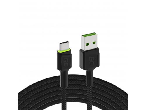 Câble GC Ray USB - USB-C 1.2m   Rétroéclairage vert   Charge rapide