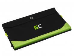 Chargeur solaire Green Cell GC SolarCharge 21W - Panneau solaire avec 10000 mAh Fonction Powerbank USB-C PD 18W USB-A QC