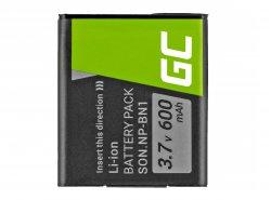 Green Cell ® Batteria NP-BN1 per Sony Cyber-Shot DSC-QX10 DSC-QX100 DSC-TF1 DSC-TX10 DSC-W530 DSC-W650 DSC-W800 3.7V 630mAh